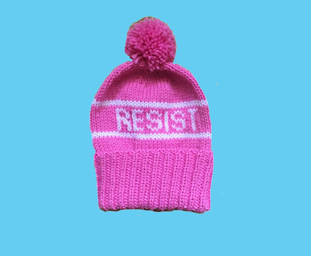 Handmade Knit #RESIST Winter Hat