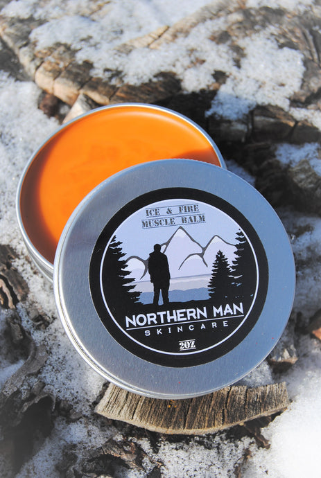 Northern Man Ice & Fire Muscle Balm   ***Contains HEMP*** - Grandma's Lavender