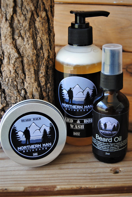 Northern Man Complete Beard Care Set - Grandma's Lavender