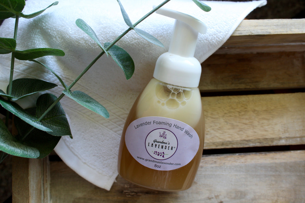 Naturally Antibacterial Foaming Hand Wash 8oz - Grandma's Lavender