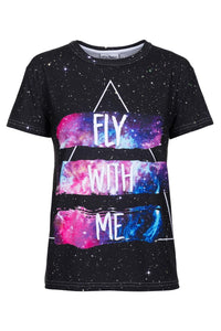 Fly with me T-shirt T-shirt Women - Bittersweet Paris, printed, streetwear, urbran, fashion, outfit, unique, clothes,