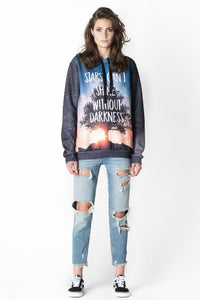 Stars Hoodie Hoodie Women - Bittersweet Paris, printed, streetwear, urbran, fashion, outfit, unique, clothes,