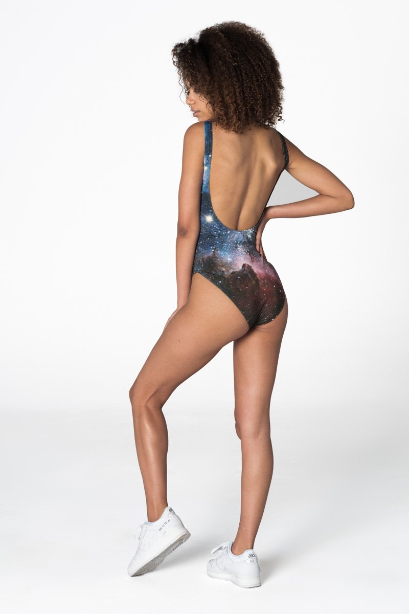 Purple Galaxy Swimsuit Swimsuit - Bittersweet Paris, printed, streetwear, urbran, fashion, outfit, unique, clothes,