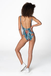 Floral Swimsuit Swimsuit - Bittersweet Paris, printed, streetwear, urbran, fashion, outfit, unique, clothes,