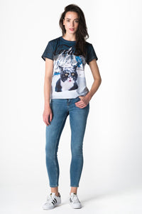 Cocaine Cat T-shirt T-shirt Women - Bittersweet Paris, printed, streetwear, urbran, fashion, outfit, unique, clothes,