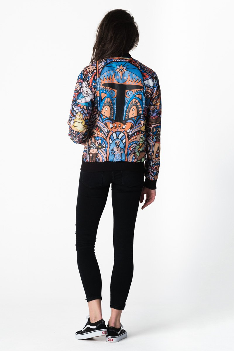 Boba Fett Bomber Jacket Bomber Jacket Women - Bittersweet Paris, printed, streetwear, urbran, fashion, outfit, unique, clothes,