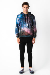 Purple Galaxy Hoodie Hoodie Men - Bittersweet Paris, printed, streetwear, urbran, fashion, outfit, unique, clothes,