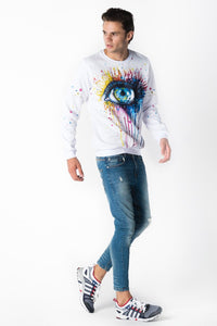 Eye Jumper Jumper Men - Bittersweet Paris, printed, streetwear, urbran, fashion, outfit, unique, clothes,