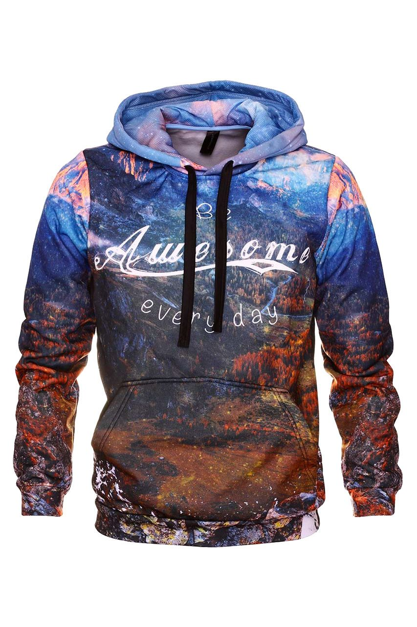 Awesome Hoodie Hoodie Men - Bittersweet Paris, printed, streetwear, urbran, fashion, outfit, unique, clothes,