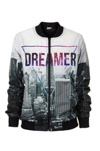Dreamer Bomber Jacket Bomber Jacket Women - Bittersweet Paris, printed, streetwear, urbran, fashion, outfit, unique, clothes,