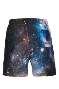 Purple Galaxy Swim Shorts Swim Shorts - Bittersweet Paris, printed, streetwear, urbran, fashion, outfit, unique, clothes,