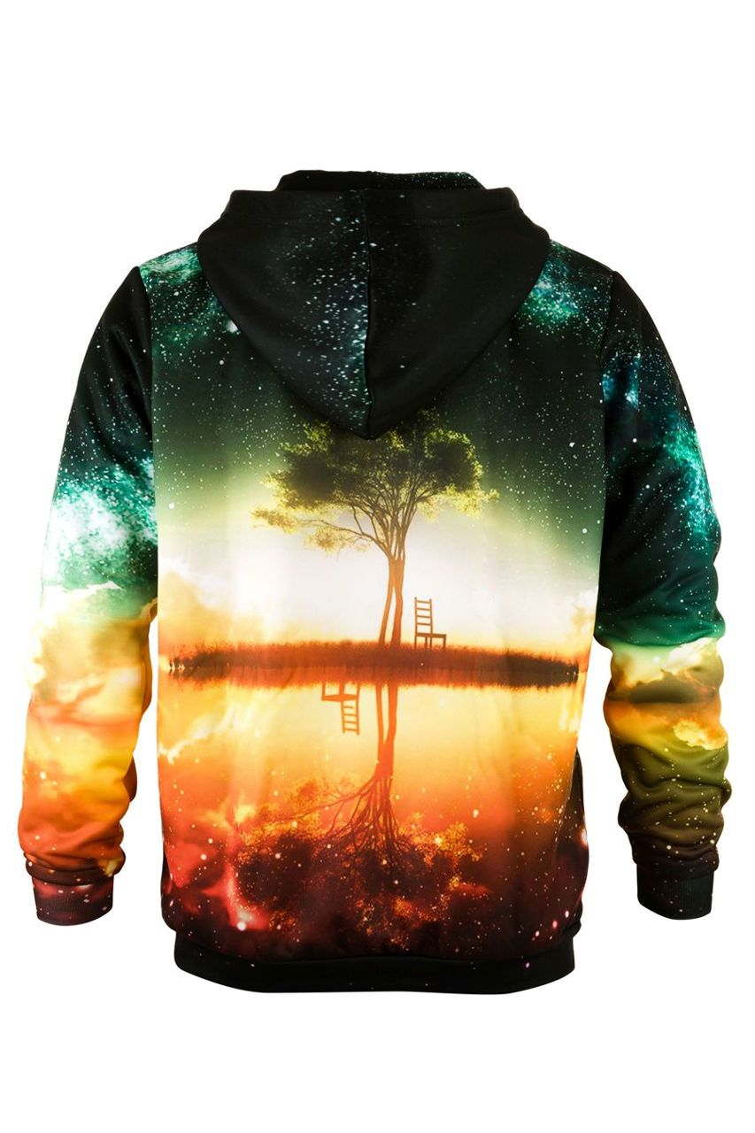 Tree Hoodie Hoodie Men - Bittersweet Paris, printed, streetwear, urbran, fashion, outfit, unique, clothes,