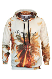 Tropical Hoodie Hoodie Men - Bittersweet Paris, printed, streetwear, urbran, fashion, outfit, unique, clothes,