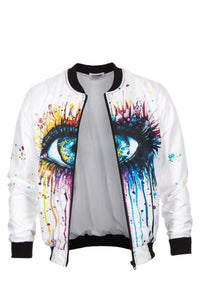 Eye Bomber Jacket Bomber Jacket Men - Bittersweet Paris, printed, streetwear, urbran, fashion, outfit, unique, clothes,