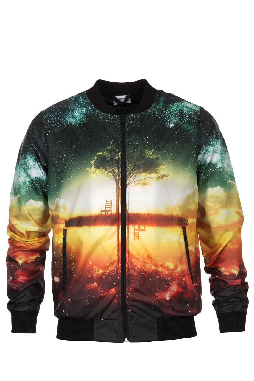 Tree Bomber Jacket Bomber Jacket Men - Bittersweet Paris, printed, streetwear, urbran, fashion, outfit, unique, clothes,
