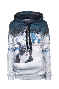 Cocaine Cat Hoodie Hoodie Women - Bittersweet Paris, printed, streetwear, urbran, fashion, outfit, unique, clothes,