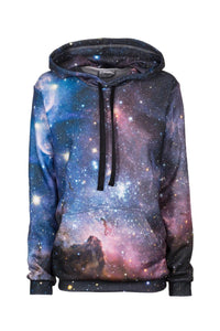 Purple Galaxy Hoodie Hoodie Women - Bittersweet Paris, printed, streetwear, urbran, fashion, outfit, unique, clothes,