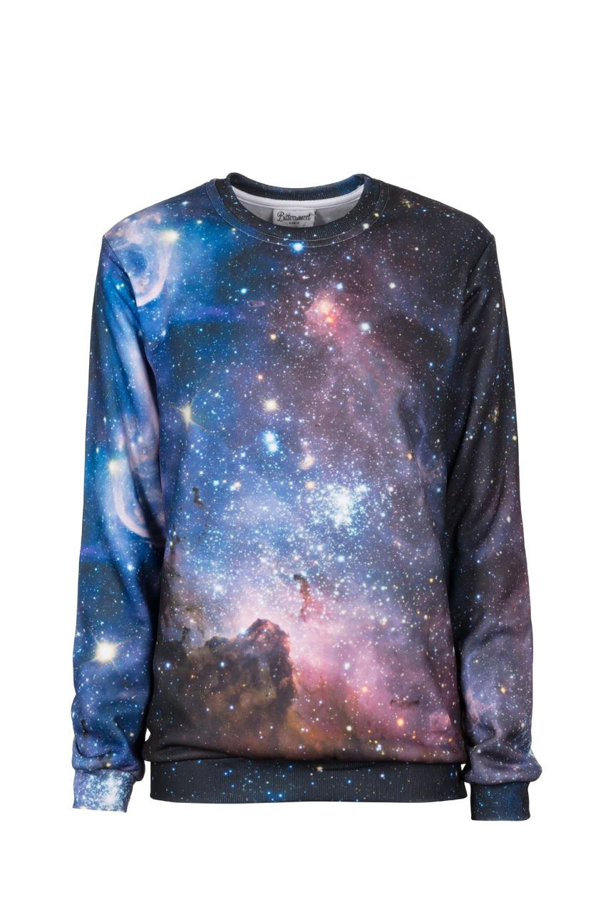 Purple Galaxy Jumper Jumper Women - Bittersweet Paris, printed, streetwear, urbran, fashion, outfit, unique, clothes,