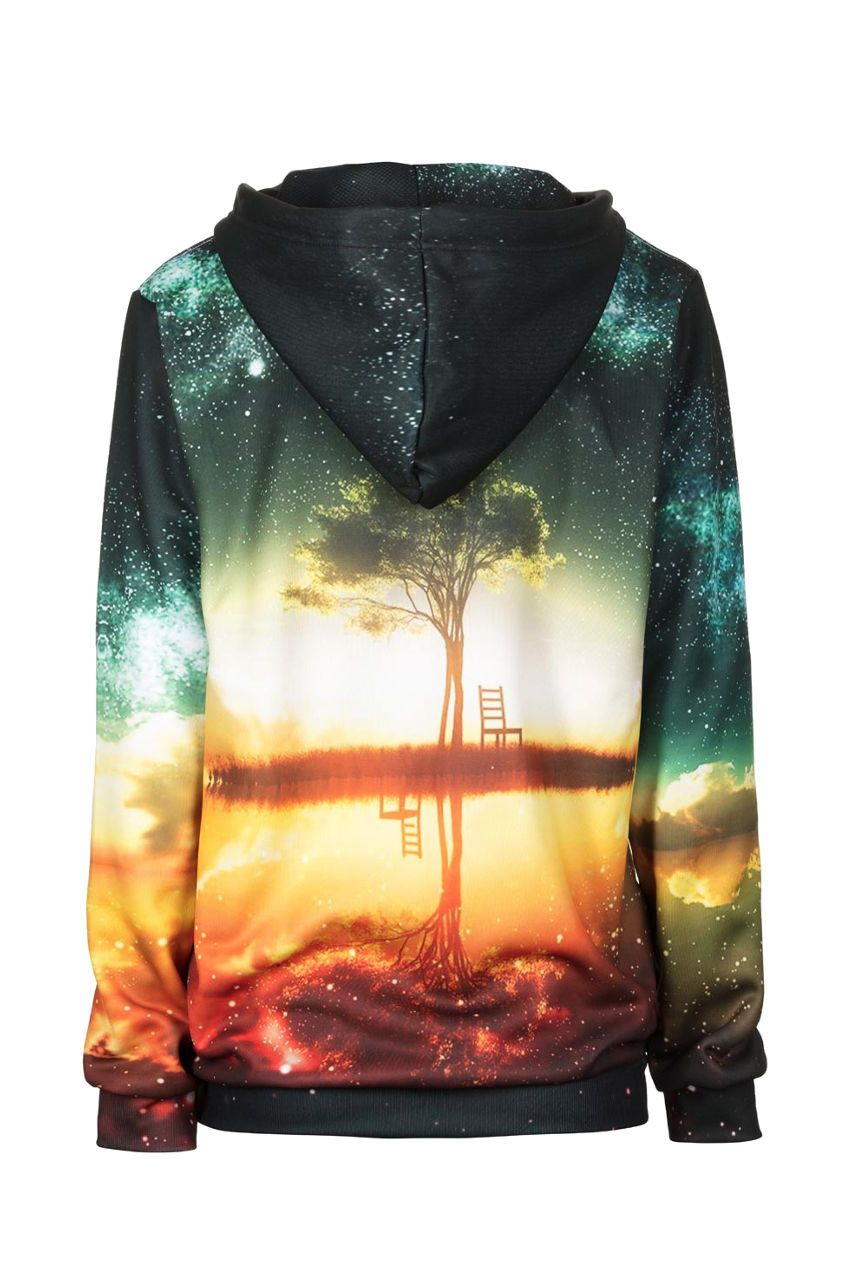 Tree Hoodie Hoodie Women - Bittersweet Paris, printed, streetwear, urbran, fashion, outfit, unique, clothes,