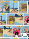 SKULL AND BONES CONEY ISLAND COMIC STRIP PEEK-A-BOO