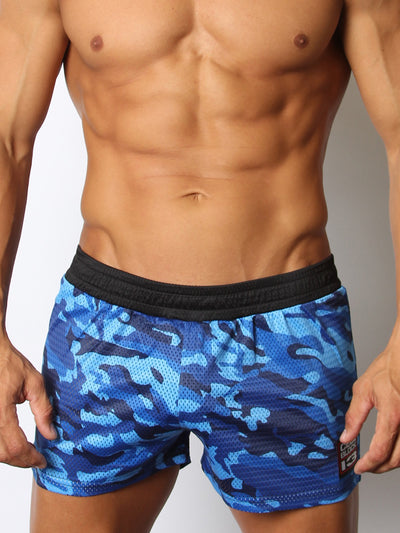 CELLBLOCK13 FOXHOLE CAMO MESH SHORT