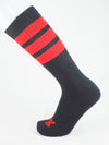FK SPORT BLACK HIGH CALF TUBE SOCK