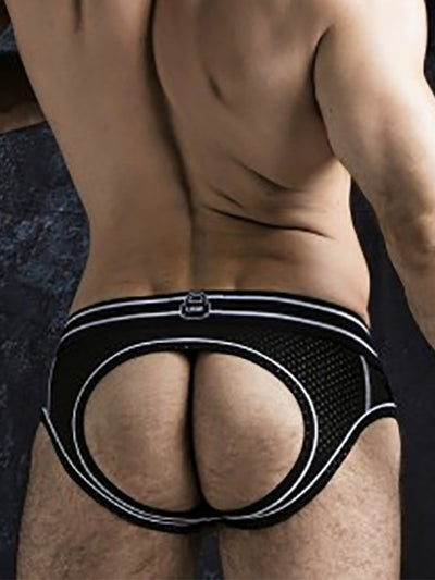 LOCKER GEAR JOSH BOTTOMLESS BRIEF WITH FRONT OPENING