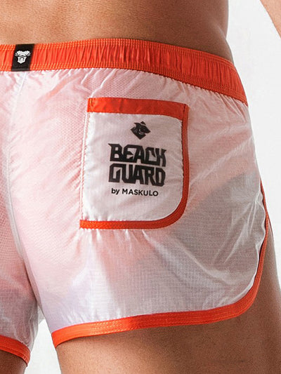 MASKULO BEACH GUARD SILKY CLUB SHORTS
