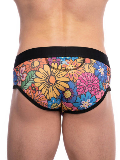SKULL AND BONES GROOVY FLORAL BRIEF