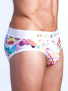 SKULL AND BONES PAINT SPLATTER PRIDE BRIEF