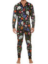 SKULL AND BONES DUTCH FLORAL UNION SUIT