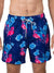 VINTAGE SUMMER FLAMINGO AND FLORAL SWIM SHORTS