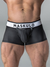MASKULO RUBBER-LOOK POUCH TRUNK, ZIPPED REAR
