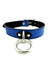 SUEDE LINED LEATHER COLLAR IN COLORS