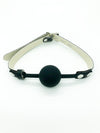 SILICONE LOCKING SOLID BALL GAG