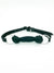 SILICONE LOCKING RAWHIDE BONE GAG - BLACK