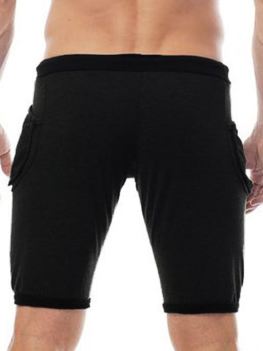 GO SOFTWEAR DARK WASH YOGA SHORTS