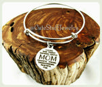 Inspirational Mom Bracelet, Mom Bangle