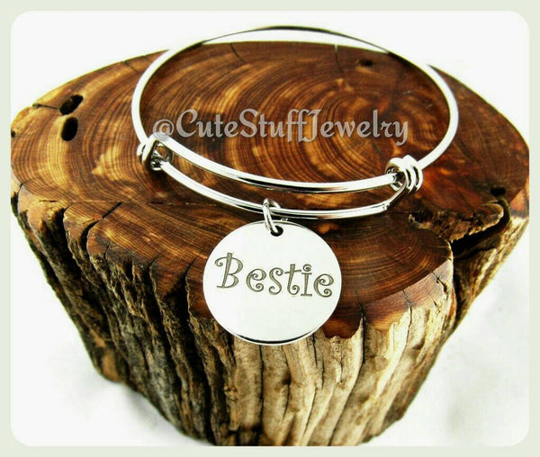 Bestie Bracelet, Bestie Bangle, Handmade Bestie Jewelry, Best Friends Bracelet, BFF Bracelet, Best Friends Forever, Best Friends Gift