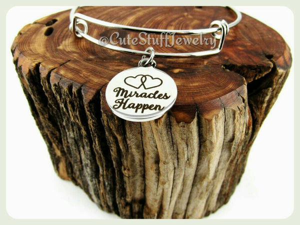 Miracles Happen Bracelet, Happen Bangle