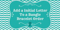 Additional Stainless Steel Initial Letter Charm for a Bangle Bracelet Order