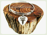 Registered Nurse Practitioner Bracelet, Registered Nurse Practitioner Bangle, Handmade Nursing Bracelet, Nurses Bracelet, RNP Bracelet Gift