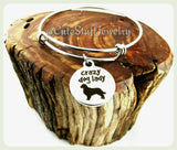 Crazy Dog Lady Bracelet, Crazy Dog Lady Bangle, Puppy Dog Bracelet, Handmade Dog Jewelry, Dog Bangle, Dog Bracelet, Dogs, Dog Lover, Puppies