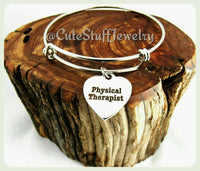 Physical Therapist Bracelet, Physical Therapist Bangle, Handmade Physical Therapist Jewelry, PT Bracelet, PT Bangles, PT Jewelry, Therapy