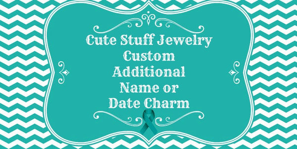 Custom Additional Name or Date Charm for a Bangle Bracelet Order
