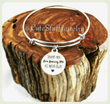 Thanks for loving me as your own Bracelet, Mother in law Bangle, Handmade Thanks for loving me Jewelry, Inspirational Bangle, Stepmom bangle