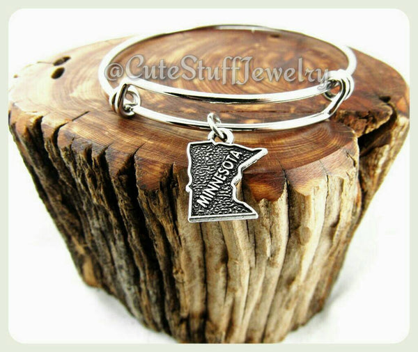 Minnesota state bracelet, state of Minnesota bangle