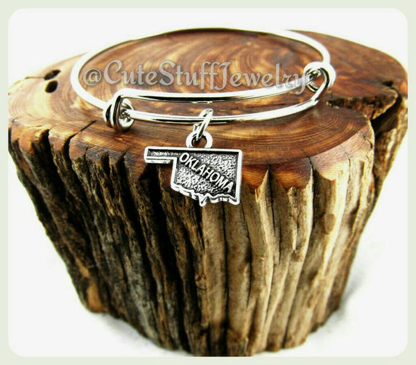 Oklahoma state bracelet, state of Oklahoma bangle