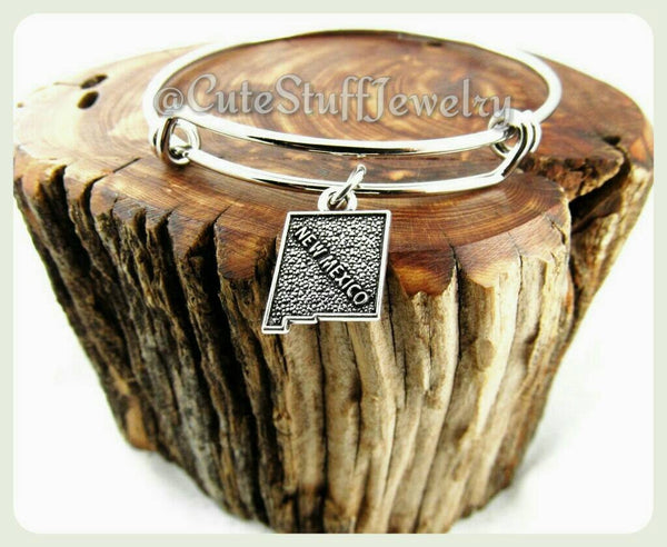 New Mexico State Bracelet, State of New Mexico Bangle
