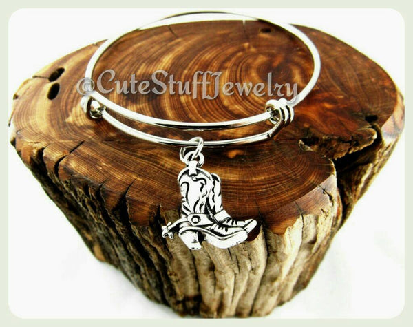 Cowboy Boots Bangle, Cowboy Boot Bangle, Handmade Cowboy Boots Jewelry, Country Bracelet, Country Girl Bangle, Southern Girl, Southern Charm